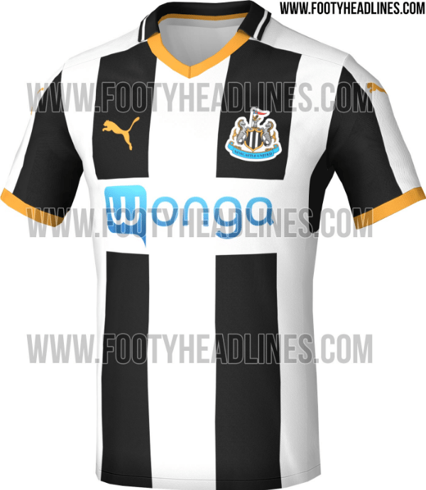 newcastle home shirt