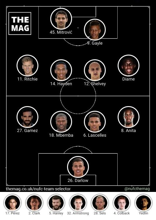 newcastle team v brighton