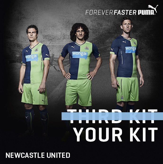 Newcastle uniteds new third strip