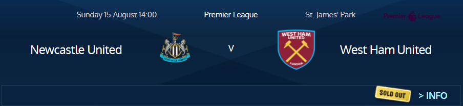 West Ham fans at Newcastle August 2021