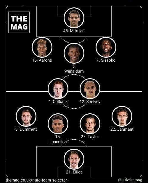 newcastle team v bournemouth