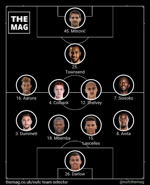 newcastle team v manchester city