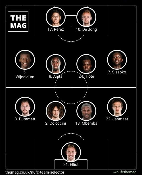 newcastle team v west brom