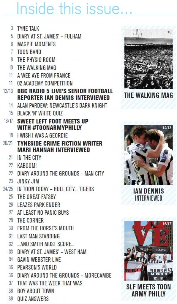 The_Mag_Issue_282_Contents_Page_NUFC