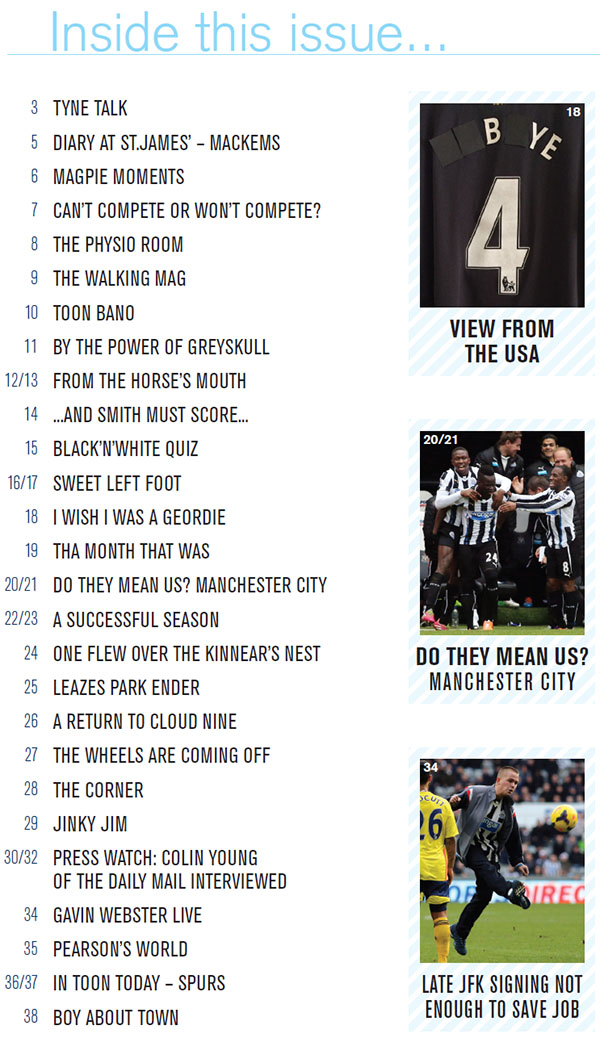 The_Mag_Issue_287_Contents_Page_NUFC