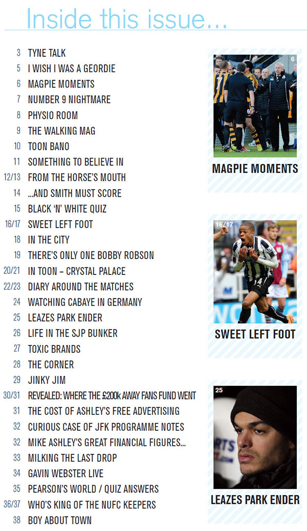 The_Mag_Issue_288_Contents_Page_NUFC
