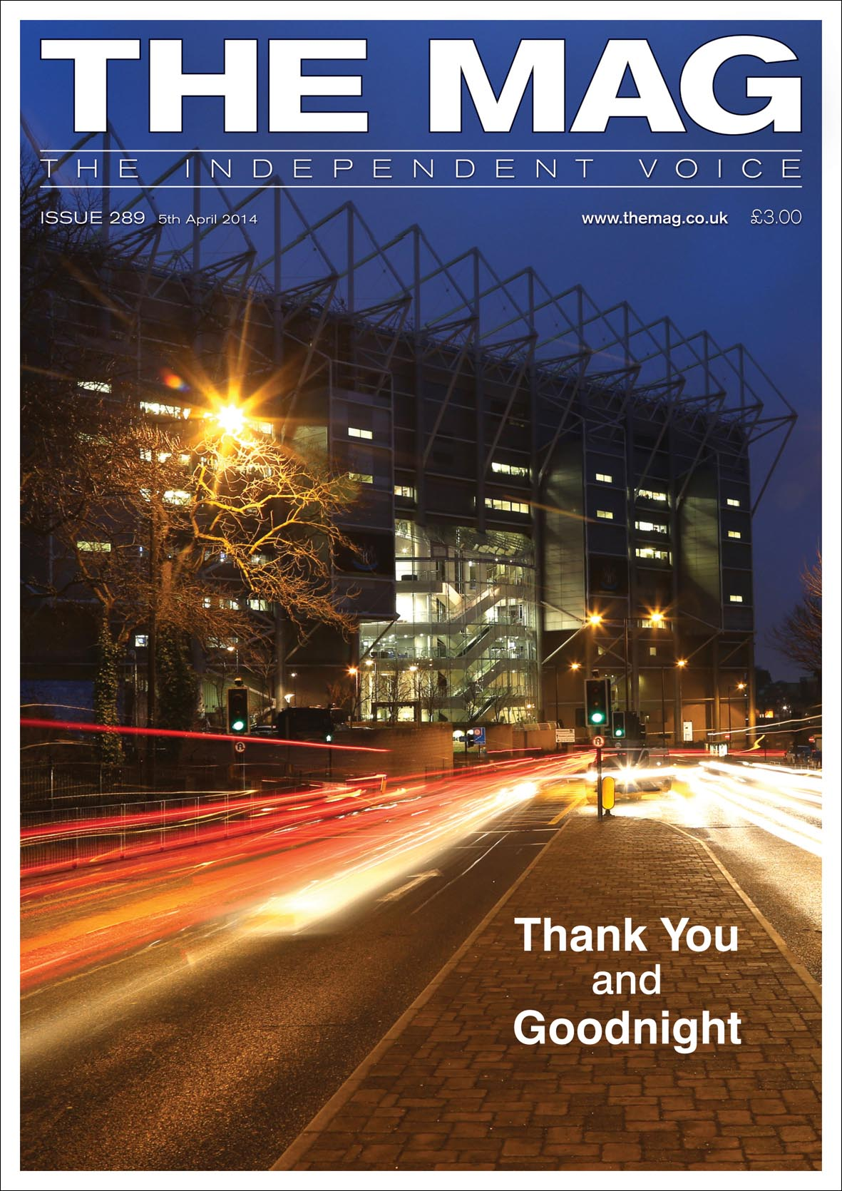 The Mag, Issue 289, 5 April 2014, Newcastle United Magazine, NUFC