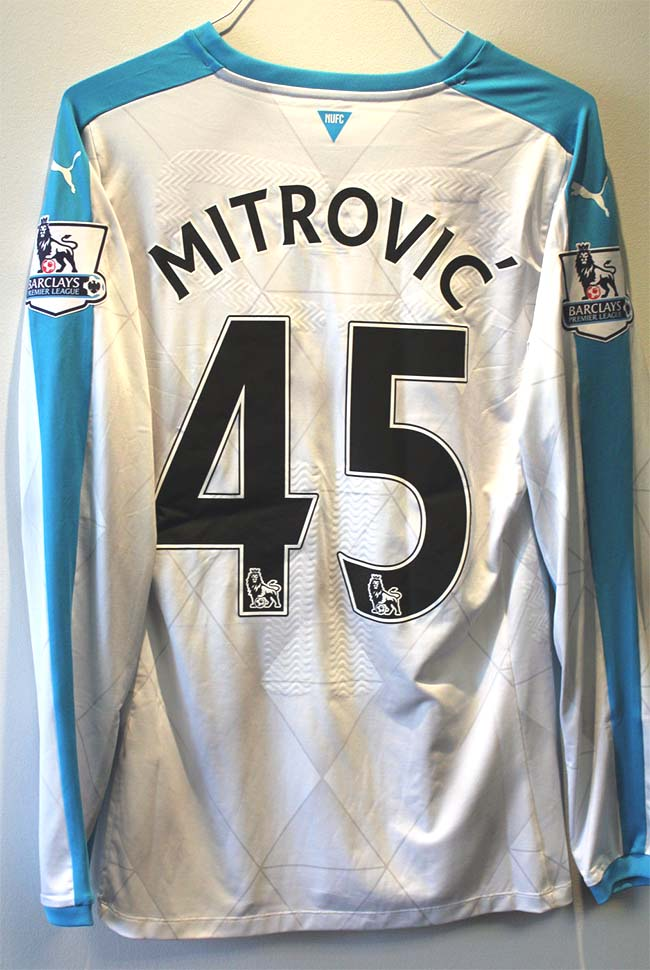 newcastle match worn shirts