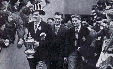 FA Cup Joe Harvey Jackie Milburn Charlie Crowe St. James' Park