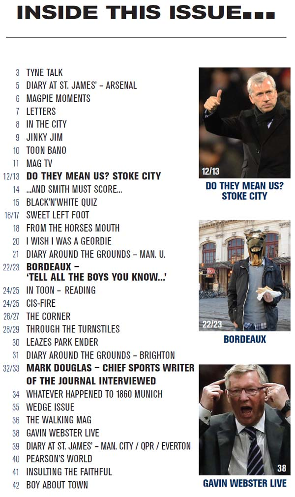 The Mag Issue 275 | 12 Jan 2012 | Newcastle United Magazine