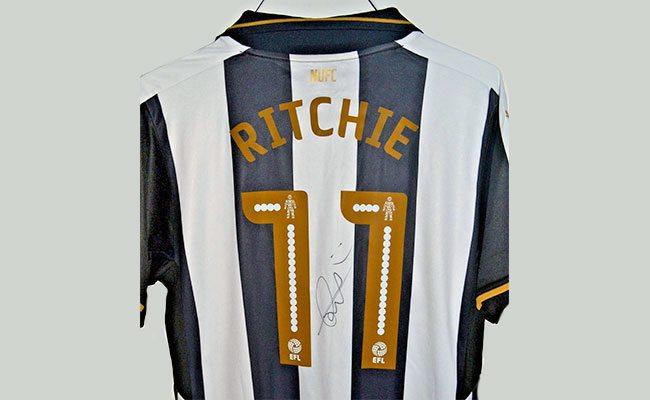 newcastle match worn shirts