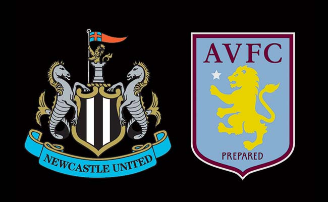 newcastle team v aston villa