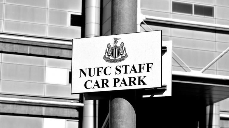 NUFC Staff Car Park Sign