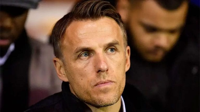 Phil Neville has a go at Newcastle United fans and then defeats his own argument