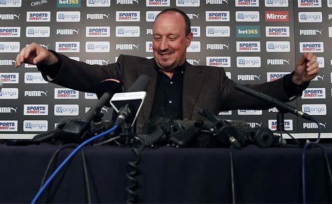 Rafa Benitez burton press conference