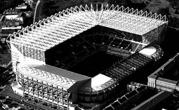 St. James' Park Aerial View B+W Newcastle United