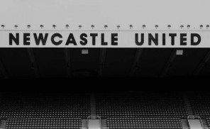 St. James' Park East Stand Sign b&w