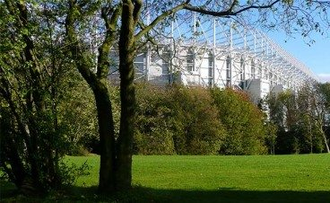 St. James' Park from Leazes Park Newcastle United