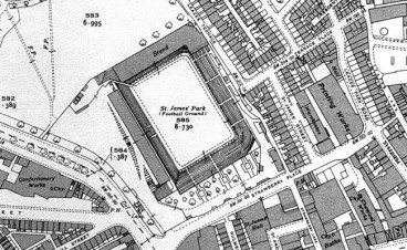 St. James' Park Old Map Newcastle United