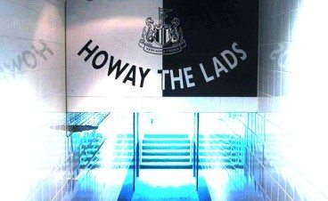 St James' Park Tunnel Howay The Lads