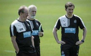 Steve McClaren Steve Black Ian Cathro Training Newcastle United