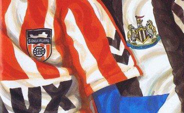Sunderland Newcastle Shirts Programme Cover 1992