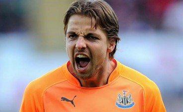 Tim Krul Shouting Newcastle United